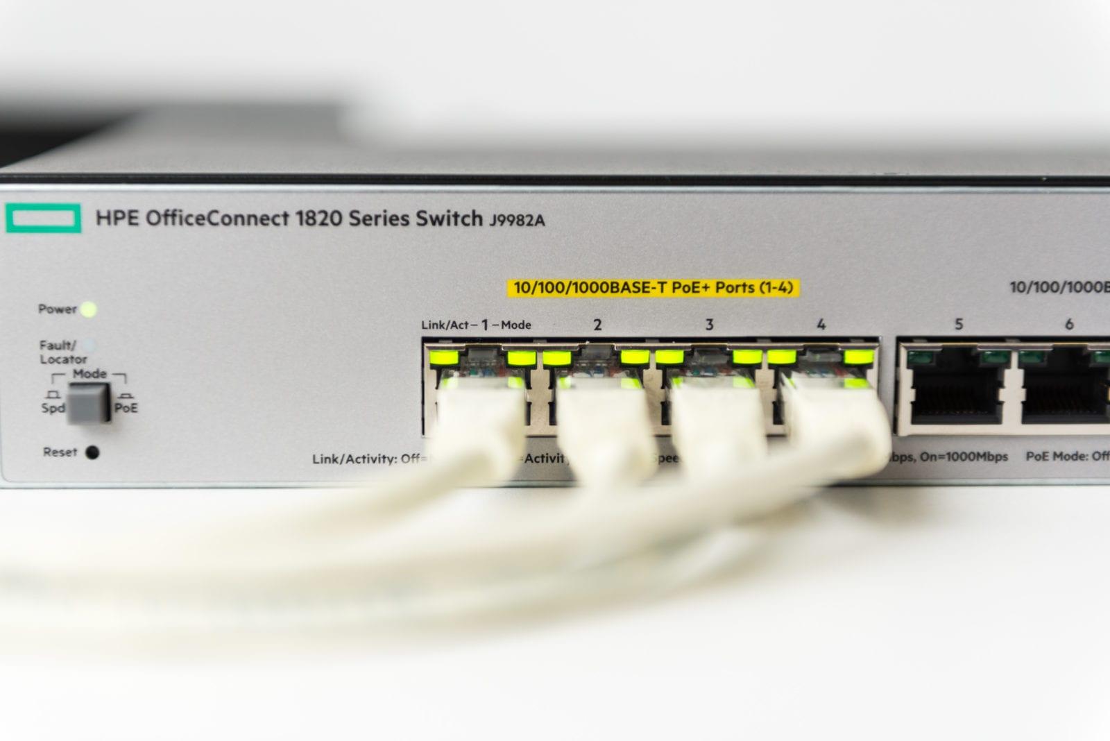 stabiel netwerk HPE Office connect switch