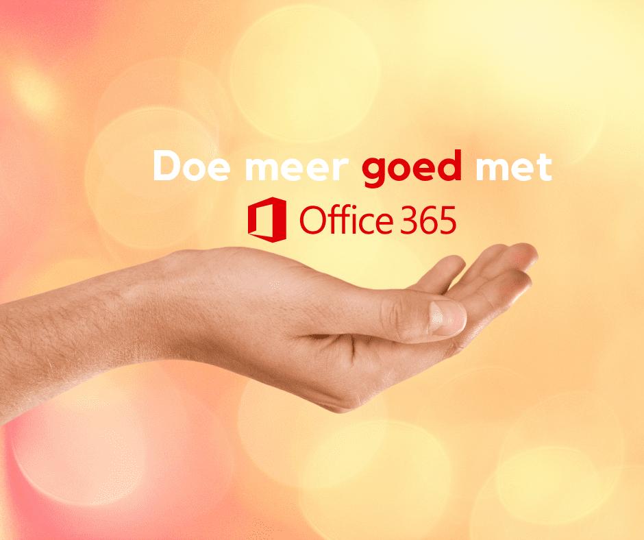 doe meer goed met office 365 non-profit abonnementen