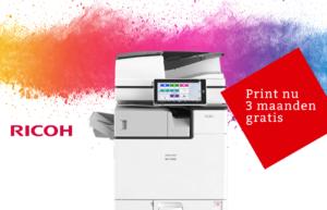 Koop de Ricoh IMC300 IMC3000 printer en krijg 3 maanden gratis printen